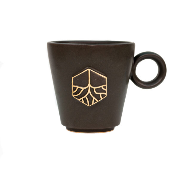 Grassroots Ceramic Handmade Charcoal Shell